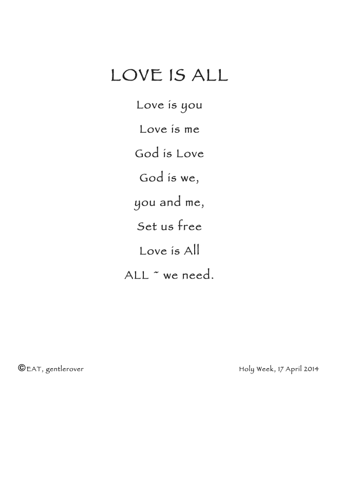 Microsoft Word - Love Is All